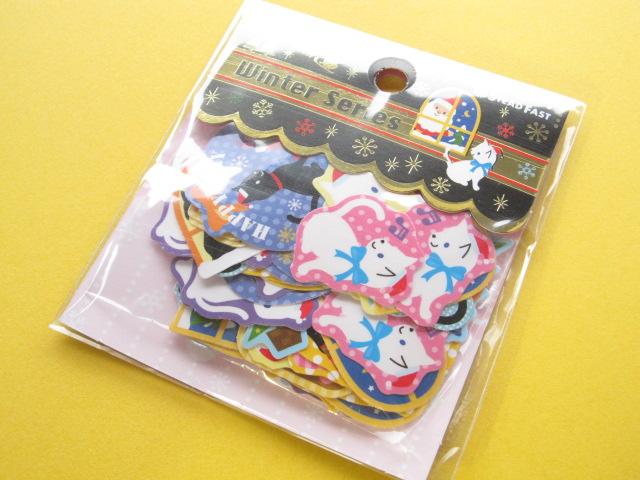 Photo1: Kawaii Cute Christmas Sticker Flakes Sack Stead Fast (7697)