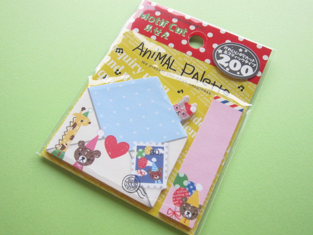 Photo1: Kawaii Cute Mini Sticky Note Q-LiA *Animal Palette (70212)