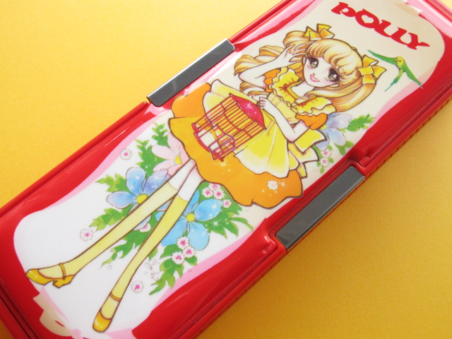 Photo1: Japanese Vintage Magnetic Pen/Pencil Case Box *POLLY 1970s
