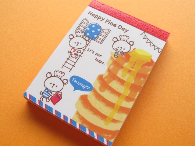 Photo1: Kawaii Cute Mini Memo Pad Crux *Happy Fine Day (01332)