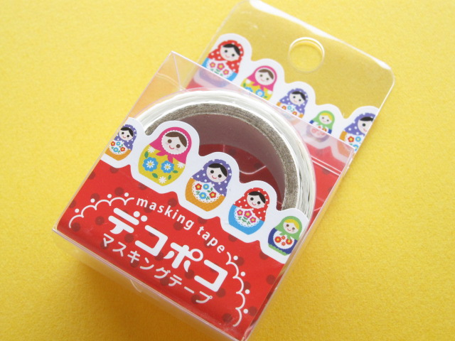 Photo1: Kawaii Cute Mini Masking Tape/Deco Tape Sticker DECOPOKO *Matryoshka/Matrioshka (MDT01-08)
