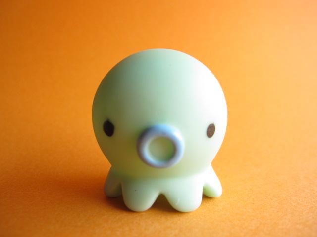 Photo1: Octopus Takochu Plastic Mini Figure Toy *Green