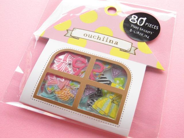 Photo1: Cute Sticker Flakes Sack ouchiina Q-LiA *Ribbon (81198)