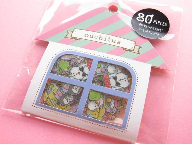 Photo1: Cute Sticker Flakes Sack ouchiina Q-LiA *Circus (81199)