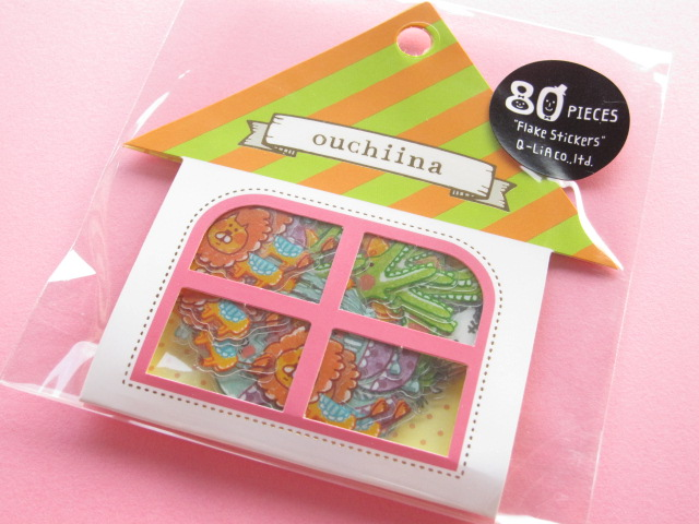 Photo1: Cute Sticker Flakes Sack ouchiina Q-LiA *Animal (81201)