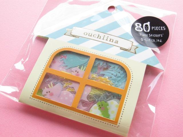 Photo1: Cute Sticker Flakes Sack ouchiina Q-LiA *Dinosaurs (81195)