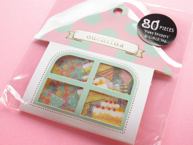 Photo1: Cute Sticker Flakes Sack ouchiina Q-LiA *Birthday (81200)