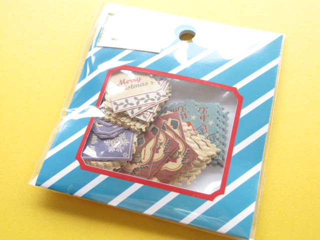 Photo1: Winter Selection Sticker Flakes Sack Mind Wave *Stamp & Tag (75442)