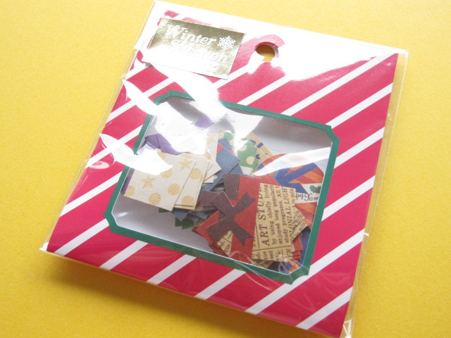 Photo1: Winter Selection Sticker Flakes Sack Mind Wave *Present Box (75445)
