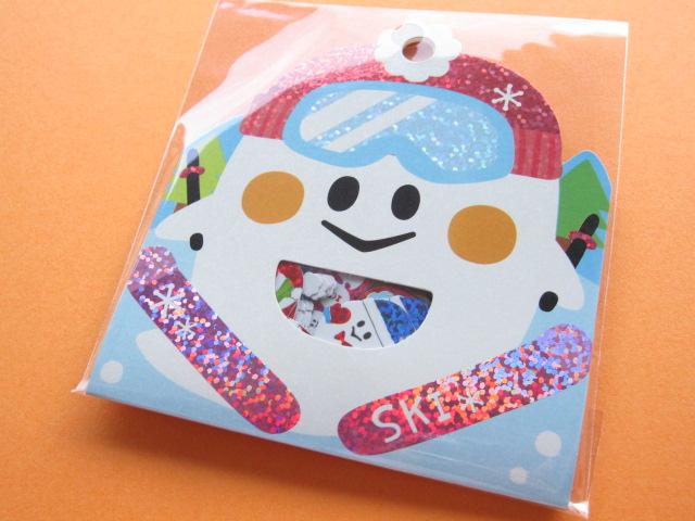 Photo1: Kawaii Cute Sticker Flakes Sack Q-LiA *Ghost of Winter (81242)