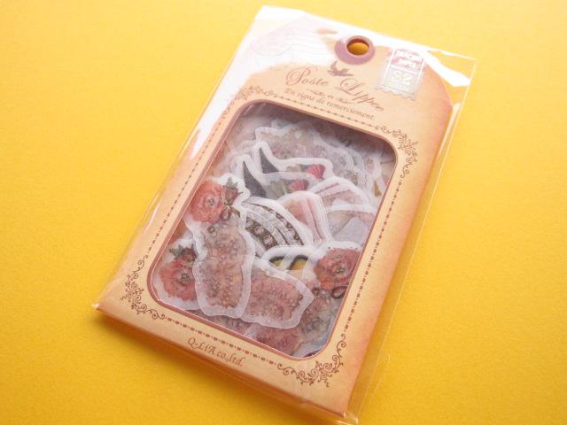 Photo1: Antique Sticker Flakes Sack Poste Lippee Q-LiA *Lace (81339)