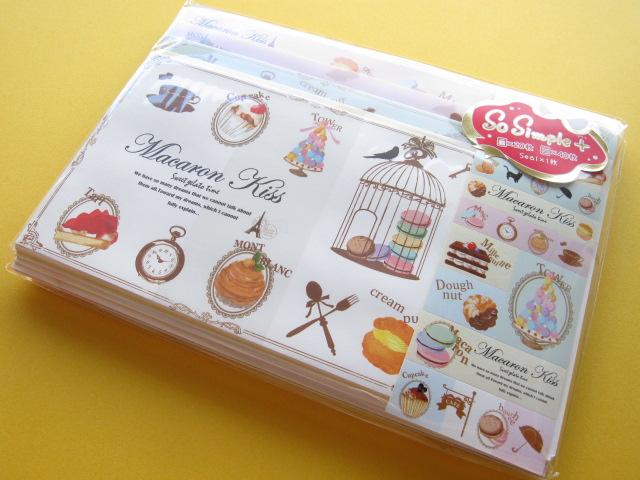 Photo1: Kawaii Cute Letter Set Crux *Macaron Kiss (01467)