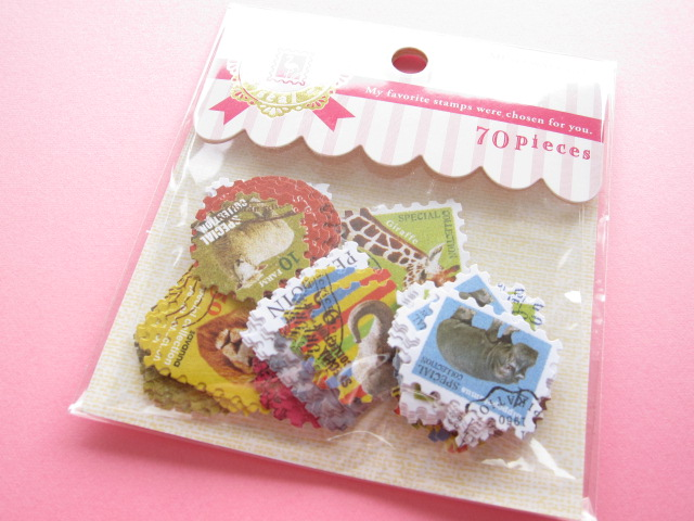 Photo1: My Favorite Sticker Flakes Sack Mind Wave *Stamps (75882)