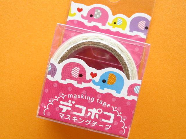 Photo1: Mini Masking Tape/Deco Tape Sticker DECOPOKO *Elephant (MDT02-16)