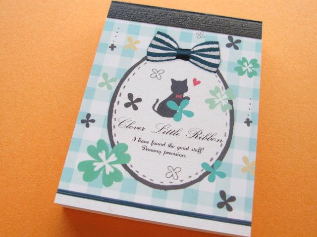 Photo1: Kawaii Cute Mini Memo Pad Kamio Japan *Clover Little Ribbon (96640)