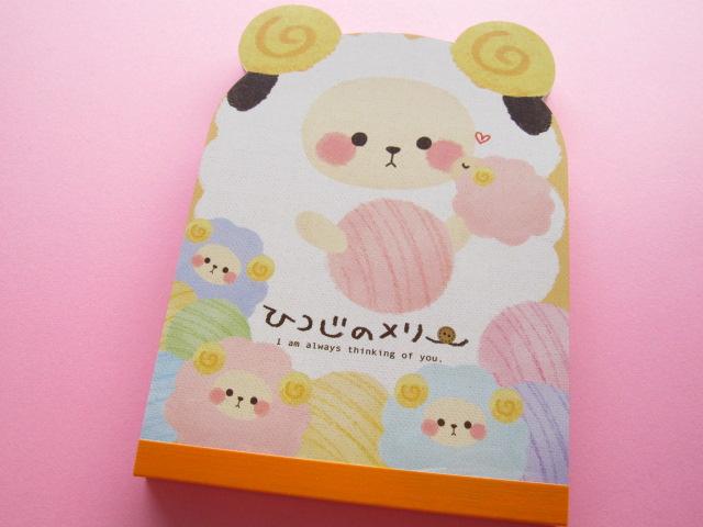 Photo1: Kawaii Cute Large Memo Pad Crux *ひつじのメリー Mary sheep (01724)