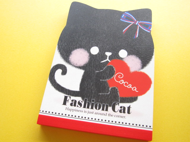 Photo1: Kawaii Cute Large Memo Pad Crux *Fashion Cat (01722)