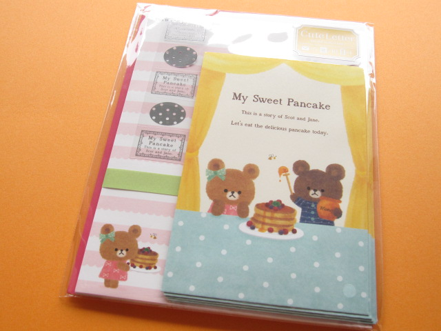 Photo1: Kawaii Cute Letter Set Mind Wave *My Sweet Pancake (38937)