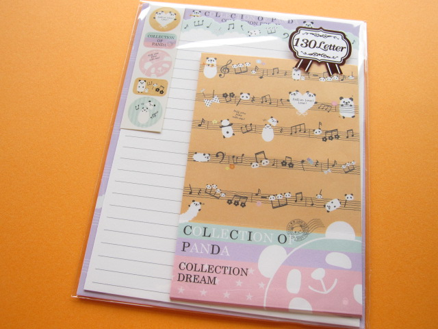 Photo1: Kawaii Cute Letter Set Crux *COLLECTION OF PANDA (08015)