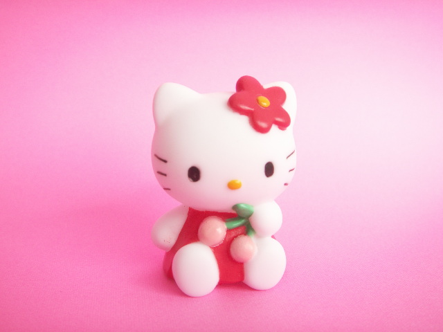 Photo1: Kawaii Cute Hello Kitty Mascot Doll Collection Japan Exclusive *Cherry