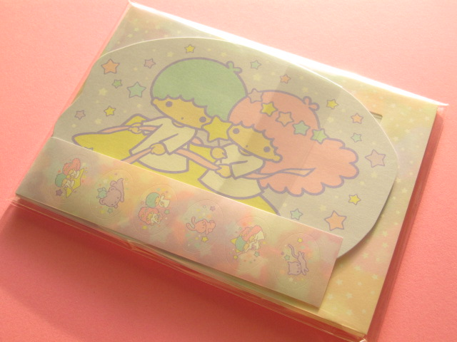 Photo1: Kawaii Cute Mini Letter Set die-cut Sanrio Japan Exclusive *Little Twin Stars Hide-and-seek (S2036495)