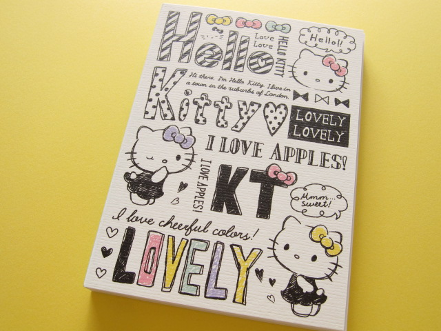 Photo1: Kawaii Cute Large Memo Pad Sanrio Japan Exclusive *Hello Kitty (15015)