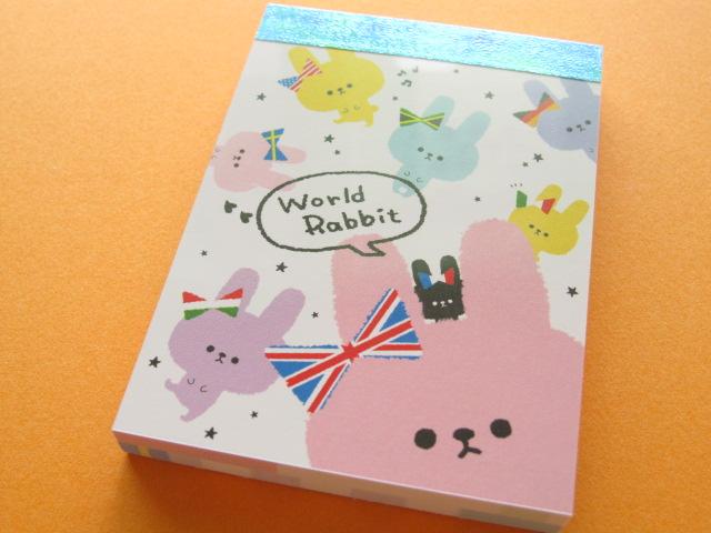 Photo1: Kawaii Cute Mini Memo Pad Crux *World Rabbit (01862)