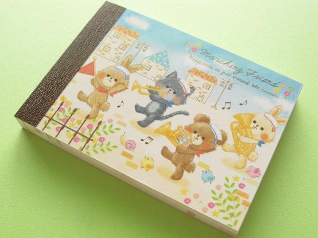 Photo1: Kawaii Cute Mini Memo Pad Crux *Marching Friend (01768)