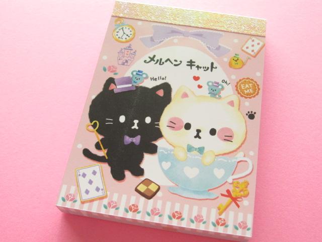 Photo1: Kawaii Cute Mini Memo Pad Crux *メルヘン キャット (29030)