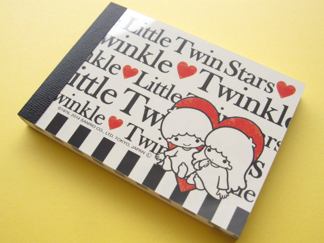 Photo1: Kawaii Cute Mini Memo Pad Sanrio Japan Exclusive *Little Twin Stars (11125)