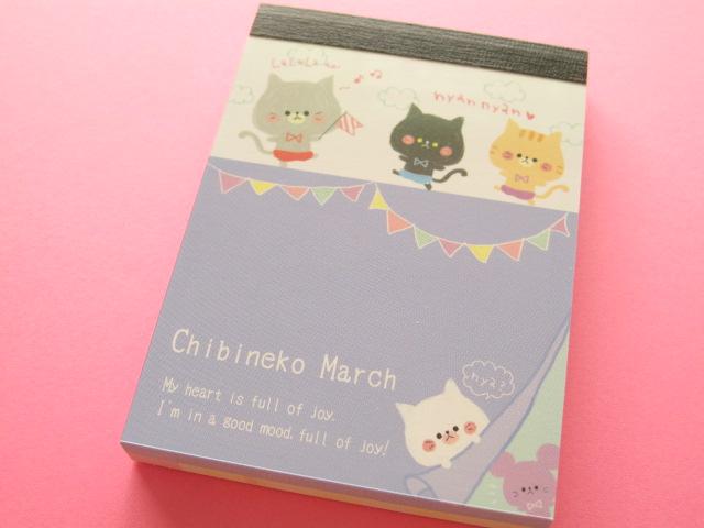 Photo1: Kawaii Cute Mini Memo Pad Kamio Japan *Chibineko March (10104)