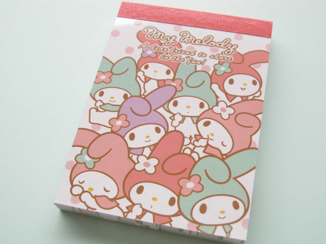 Photo1: Kawaii Cute Mini Memo Pad Sanrio Japan Exclusive *My Melody (11191)
