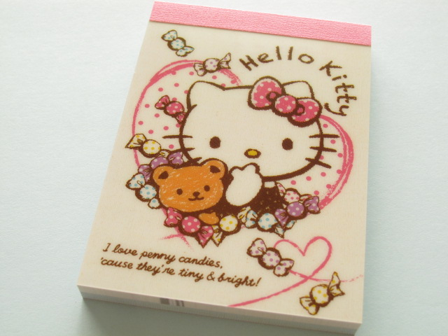 Photo1: Kawaii Cute Mini Memo Pad Sanrio Japan Exclusive *Hello Kitty (66524)