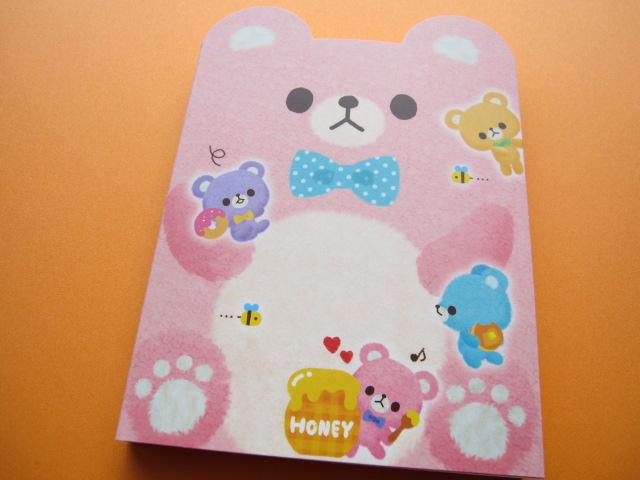 Photo1: Kawaii Cute Large Memo Pad Q-LiA *Bear (90356)