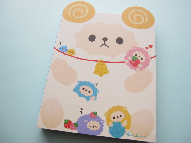 Photo1: Kawaii Cute Large Memo Pad Q-LiA *Sheep (90357)