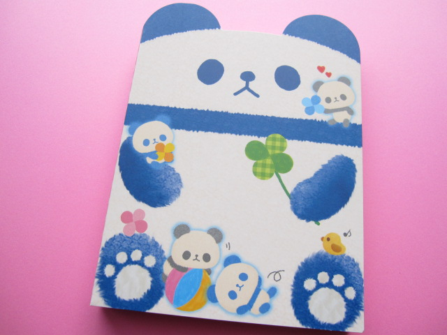 Photo1: Kawaii Cute Large Memo Pad Q-LiA *Panda (90358)
