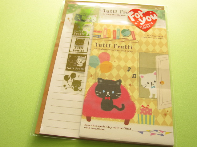 Photo1: Kawaii Cute Letter Set Kamio Japan *Tutti Frutti (03237)