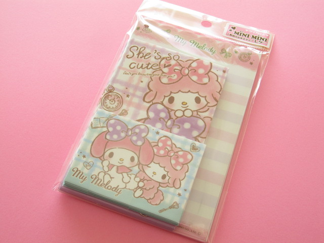 Photo1: Kawaii Cute Mini Mini Letter Set Sanrio Japan Exclusive *My Melody (66695)
