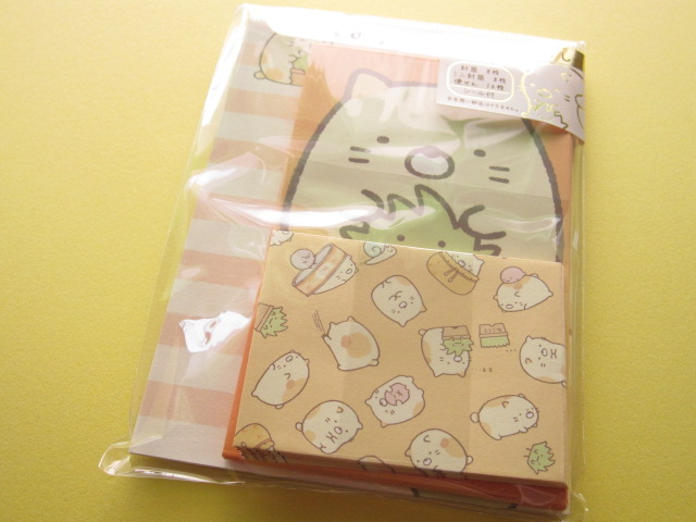 Photo1: Kawaii Cute Mini Letter Set San-x *Sumikkogurashi ねこ (LH 49501)