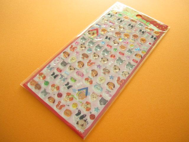 Photo1: Kawaii Cute Candy Sticker Sheet Q-LiA *Puchi Wan Life  (91371)