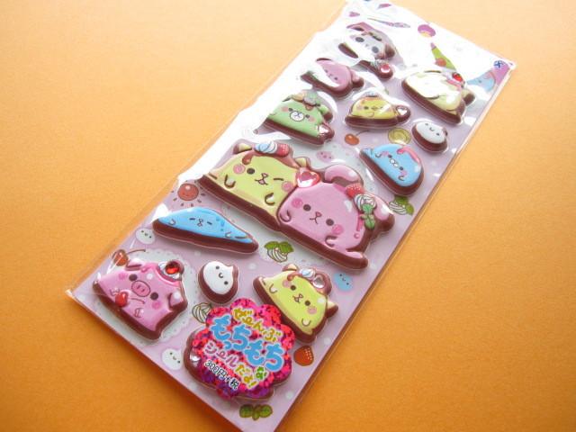 Photo1: Kawaii Cute Puffy Stickers Sheet Crux (05042)