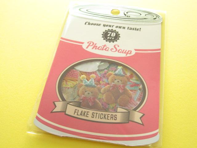 Photo1: Antique Sticker Flakes Sack Photo Soup Q-LiA *Birthday (91166)
