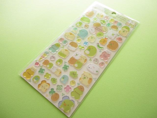 Photo1: Kawaii Cute Colorful Clear Sticker Sheet San-x *Sumikkogurashi (SE24808 )
