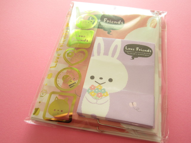 Photo1: Kawaii Cute Mini Letter Set Crux *Love Friends (01903)
