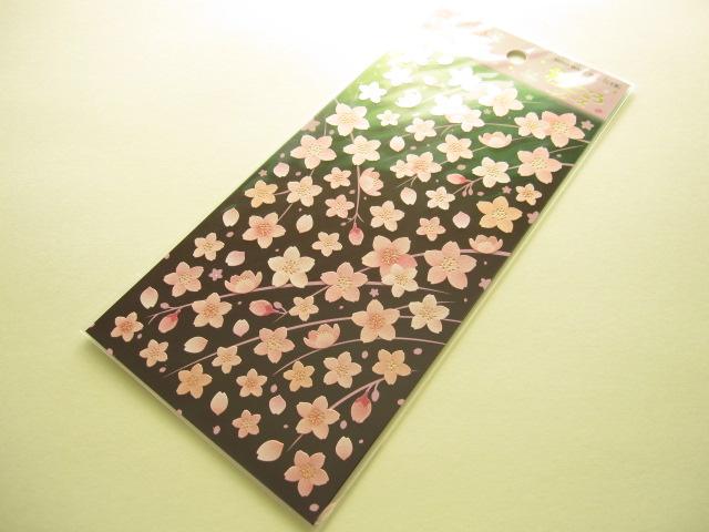 Photo1: Beautiful Sakura Cherry Blossom Flowers Sticker Sheet Mind Wave (76488)