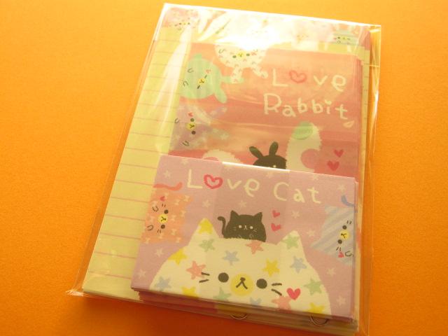 Photo1: Kawaii Cute Mini Letter Set Kamio *Love Rabbit (03255)
