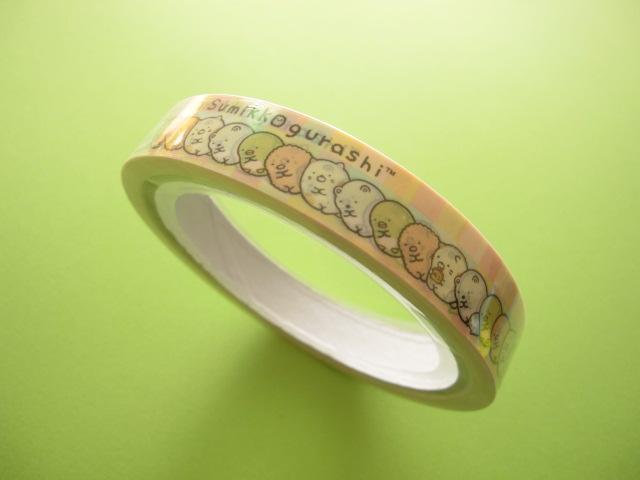 Photo1: Kawaii Cute Sumikkogurashi Deco Tape Sticker San-x  (25201)