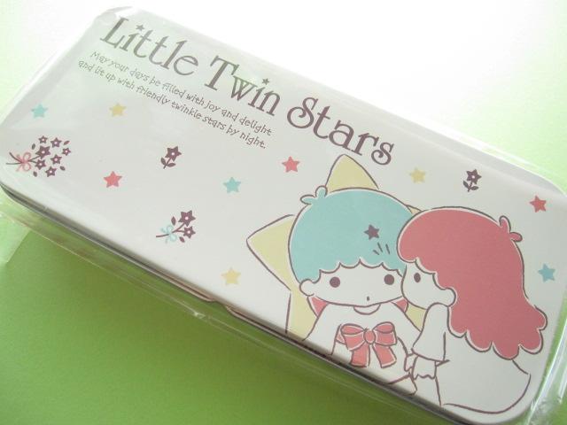 Photo1: Kawaii Cute Tin Pen/Pencil Case/Box Sanrio *Little Twin Stars (10367)