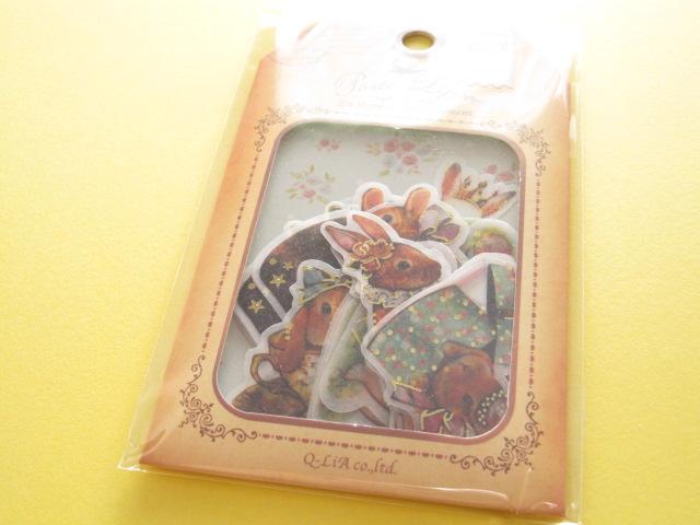 Photo1: Antique Sticker Flakes Sack Poste Lippee Q-LiA *Rabbit (91428)