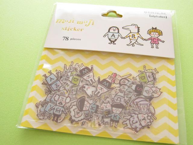 Photo1: Kawaii Cute Sticker Flakes Sack Q-LiA *alphabet (91438)